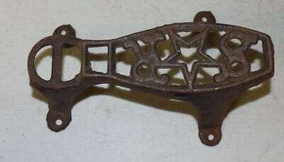 Antique Vintage Cast Iron Shoe Shine Box Foot Rest Star  #B