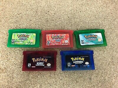 Pokemon Lot: Leaf Green Sapphire Fire Red Emerald Ruby Version Reproduction GBA
