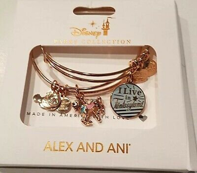 Disney Alex And Ani Fantasyland Set Rose Gold