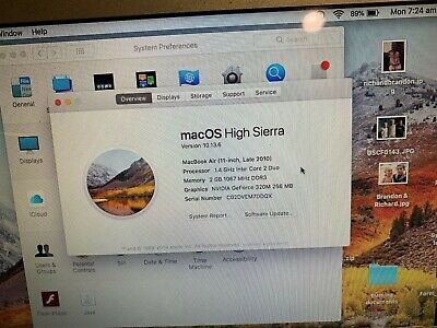 Apple Macbook Air 11 - Late 2010 - Core 2 Duo 1.4Ghz  2GB 60GB SSD