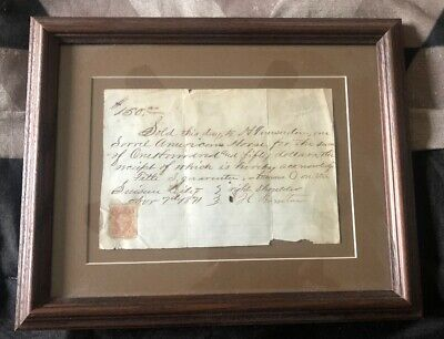 antique Stamp And Letter