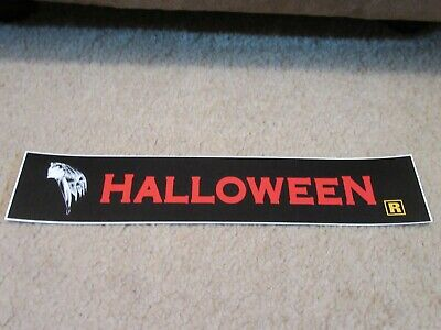 *** HALLOWEEN [RE-RELEASE] *** 2.5 x 11.5 [SMALL] MOVIE THEATER POSTER [MYLAR]