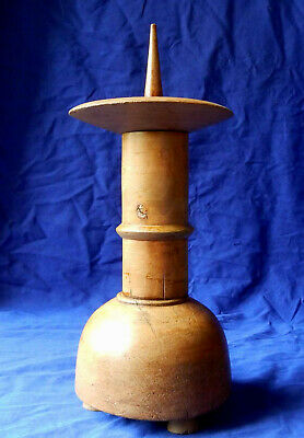 Flawless 19th century French treen pricket candlestick circa 1860