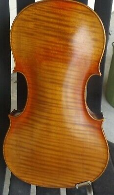 Old Amati German Violin With Beautiful One Piece Back