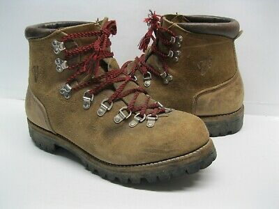 Vintage Vasque Brown Leather Mountaineering Hiking Boots size 11D