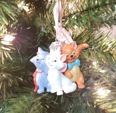 Disney Parks The Aristocats Marie Toulouse Berlioz Christmas Holiday Ornament