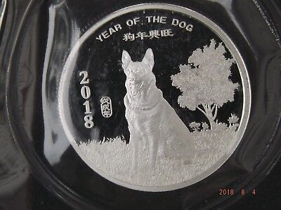 2018 year of the Dog Lunar 1/2 oz silver round sealed from the mint