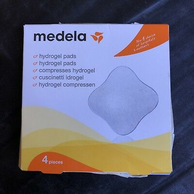 NEW Medela Hydrogel Pads 4 Pack FREE POST Soothe sore, cracked Nipples, Cooling