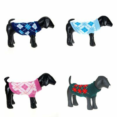 Pet Dog Warm Knitted Sweater Puppy Cats Jumper Knitwear Coat Jacket Apparel EU