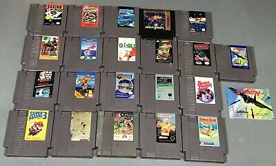 NES Lot Of 21 Nintendo Games - Super Mario 1 2 3 More Tested & Working
