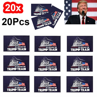 "20Pcs/Set Donald Trump Bumper Sticker "" 2020 All Aboard The Trump Train"" jc"