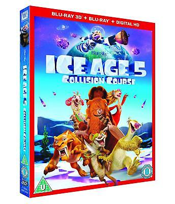 Ice Age 5 Collision Course w/ Slipcover (3D + 2D Blu-ray, 2 Discs, Region Free)