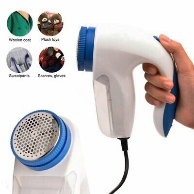 Portable Electric Clothes Fabrics Sweaters Lint Pill Fuzz Shaver Fluff Remover