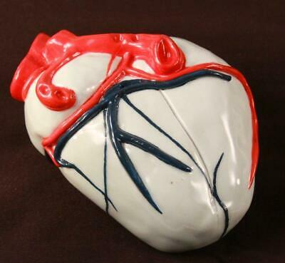 Vintage Hand Made Ceramic Heart Model Anatomical One of a Kind Paperweight