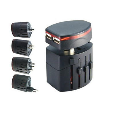 2 USB AU/UK/US/EU Universal International Travel Adapter Converter Power EU