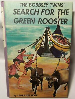 1965 Vintage THE BOBBSEY TWINS Book SEARCH FOR GREEN ROOSTER #58 HardCover Books
