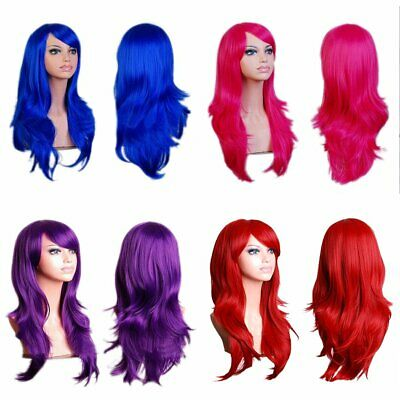 Long Curly Fashion Cosplay Costume Party Hair Anime Wigs Full Hair Wavy Wig EU