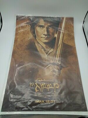 Lord Of The Rings Hobbit Movie Mini Poster Set Of 4 Midnight Imax 2012 Exclusive