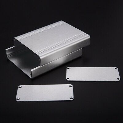 Silver Extruded Aluminum Box Enclosure Case Project Electronic 110x88x38mm