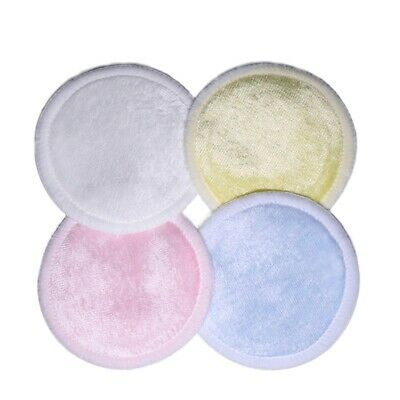 4/8PCS Reusable Makeup  Pads Cotton Gentle Soft Bamboo Pads with Laundry Bag Hot