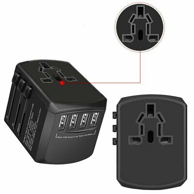 Hot Universal International Adapter 4 USB Power Plug Charger Converter Socket EU