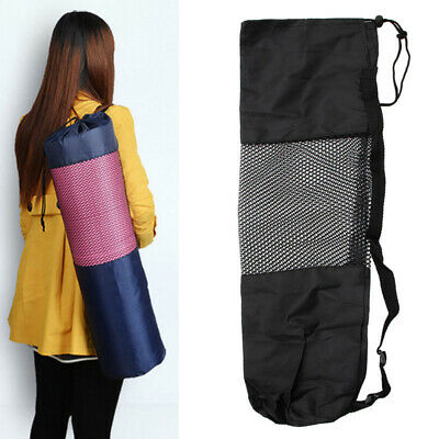 Yoga Adjustable Strap Pilates Mat Nylon Bag Carrier Mesh Center Holder Portable