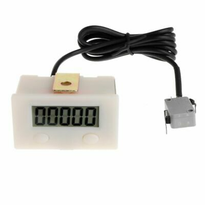 5 Digit LCD Digital Electronic Punch Counter With Microswitch Reset&Pause Button