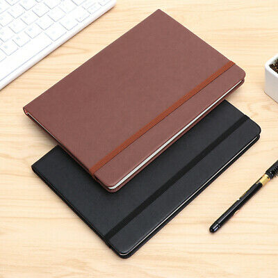 A5 PU Cover Notebook Note Book Business Writing Band Strap Journal 100 Pages