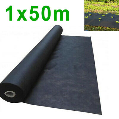 1*50M Weed Control Fabric Membrane Ground Cover Sheet Landscaping Garden Mulch