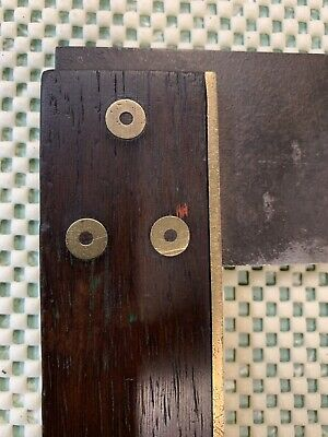 Old Tool - Timber  & Brass Try Square