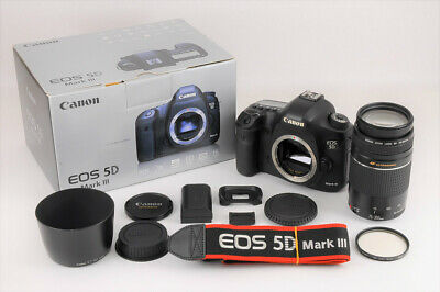 【MINT in BOX】CANON EOS 5D Mark III 37k Shutter Count +EF 75-300mm F/4-5.6 JAPAN