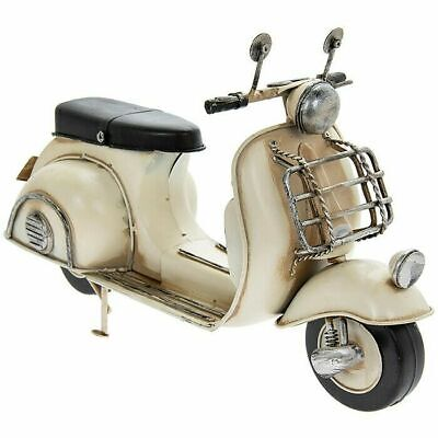 Large Tin Model Of A Classic Scooter, Cream Collectable