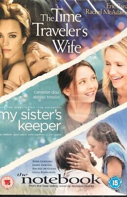 The Time Traveller's Wife / My Sister's Keeper/ The Notebook - New Sealed Dvd