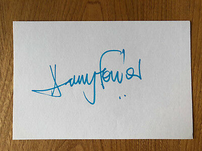 Harry Fowler actor 6x4 signed autographed card