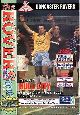 B18 Doncaster Rovers v Hull City 08/03/97 Division 3