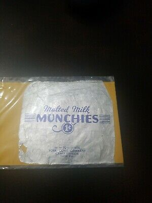 Rare York Pa Pre Peppermint Patty Cone Co. Malted Milk Munchies 1c Candy Wrapper