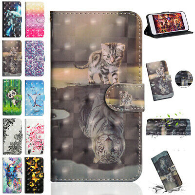 For iPhone 8 Plus 7 6 5 X XR XS Max 3D Leather Flip Magnetic Wallet Case Cover