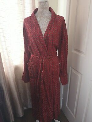 Bown of London Men's Vintage Dressing Gown Smoking Jacket Size XL Red Print