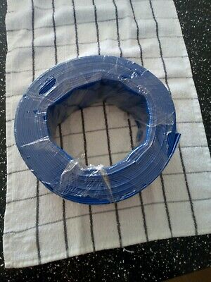 PVC Lay flat Blue Water Delivery Hose   10 m x50 mm Layflat