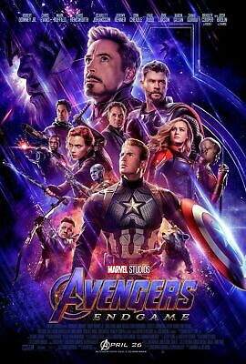 AVENGERS ENDGAME Original DS 27x40 Movie Poster Thor Thanos Black Widow K