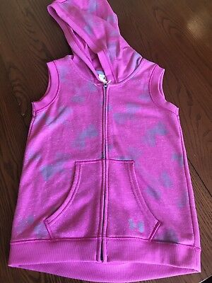Under Armour Girls Xxs Raspberry Pink Zip Vest