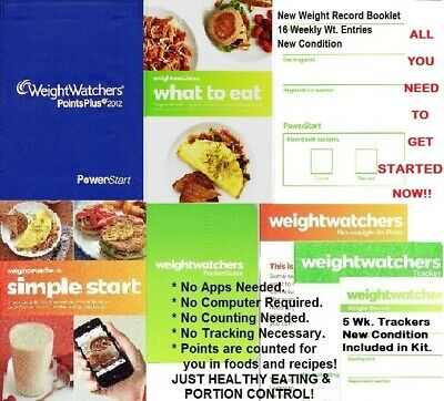 Weight Watchers POINTS PLUS COMPLETE STARTER KIT FABRIC BK COVER New SHIPS FREE