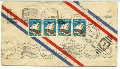 1928 airmail to NORWAY with several Xmas seals tied via St. Paul MN cover Canada
