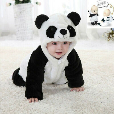 Totter Baby Boy Girl Kid Cute Warm Winter Panda Jumpsuits Overall Romper Clothes