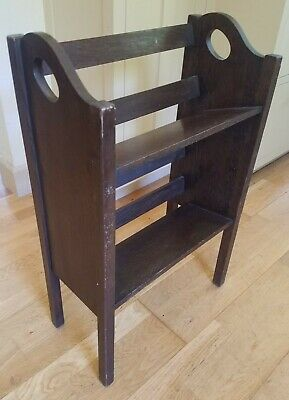 CUSHMAN 1/4-SAWN OAK BOOK TROUGH SHELF Mission Stickley Era Arts & Crafts c.1910
