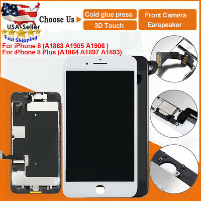 Assembly For iPhone 8 Plus 8 LCD Touch Screen Digitizer Full Replacement+Camera