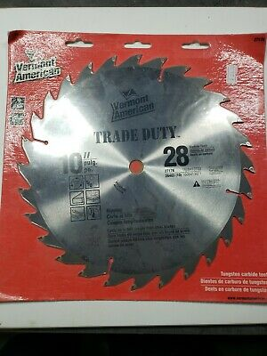 """Vermont American Trade Duty Rip//Cross Cut 12/"""" 40 Carbide Tooth Saw Blade"""