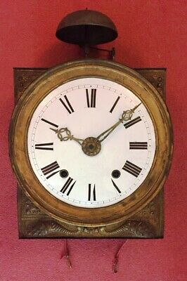 Comtoise antique wall clock movement c19th