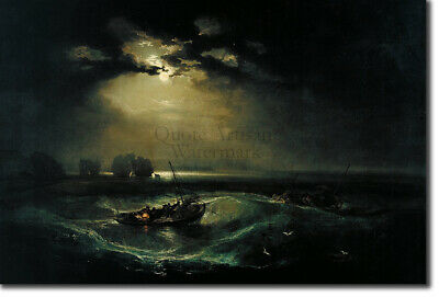 J. M. W. Turner - Fishermen at Sea (1799) - Art Print Painting Poster
