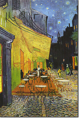 Vincent Van Gogh - Cafe Terrace at Night (1888) - Art Print Painting Poster